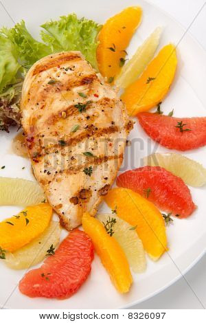 Grilled Chicken Breast And Citrus Salad