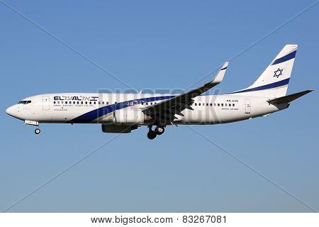El Al Israel Airlines Boeing 737-800 Airplane