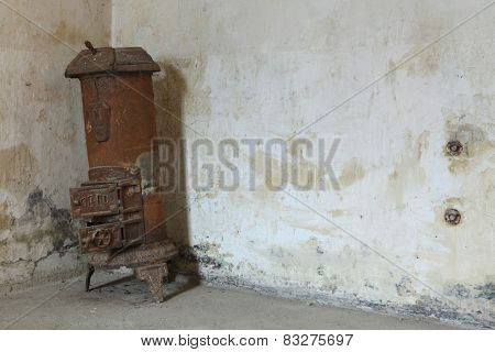 Heater boiler in the former Gestapo prison in Terezin, Czech Republic.
