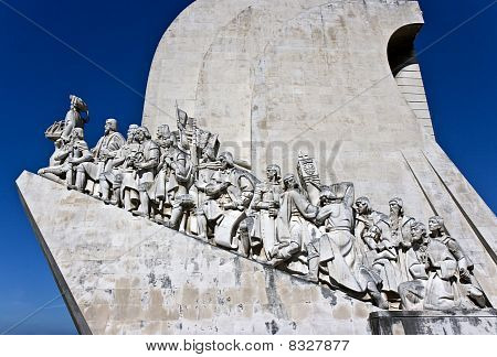 The Monument to the Discoveries (Padrao dos Descobrimentos) celebrates the Portuguese who took part in the Age of Discovery. poster
