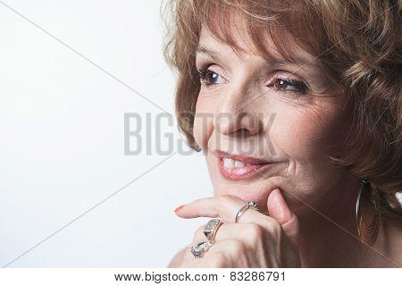 A Studio Portrait Of a Senior Woman