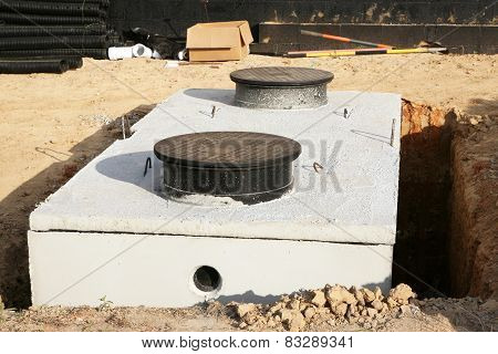 Water or septic storage tank