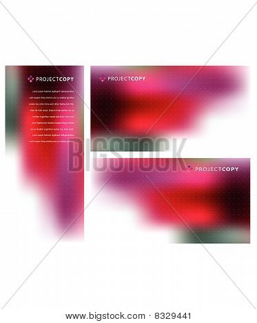 Abstract vector background set 003