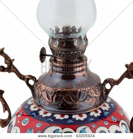 ceramic and copper candle