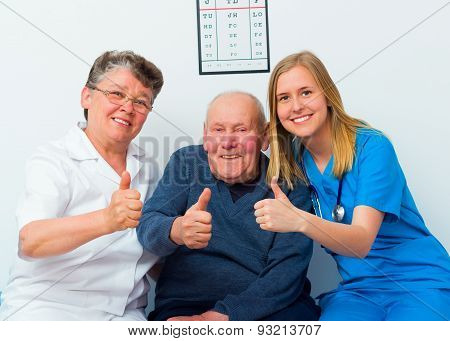 Thumbs Up For Healthy Elderly Life