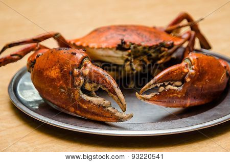 Grilled Whole Crab