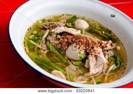 Spicy Tom Yum Noodle, A thai Food