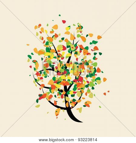 Colorful Joyful Buoyant Tree
