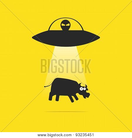 UFO and cow
