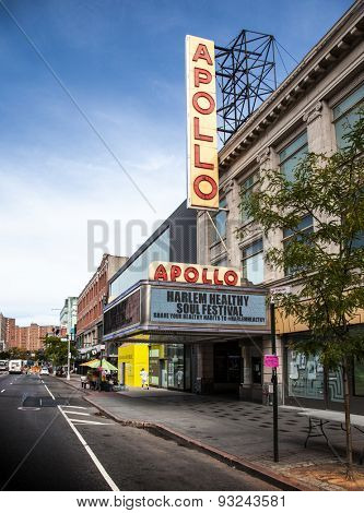 NEW YORK CITY, USA - SEPTEMBER, 2014: Apollo theatre in Harlem, New York City