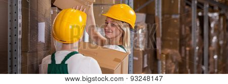 Smiling Factory Employee