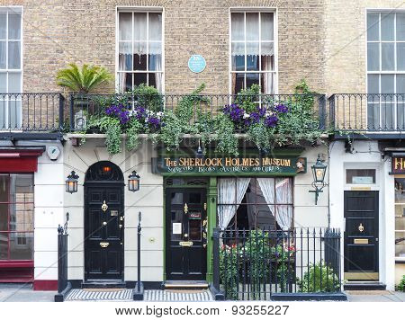 Sherlock Holmes House And Museum In 221B Baker Street, London
