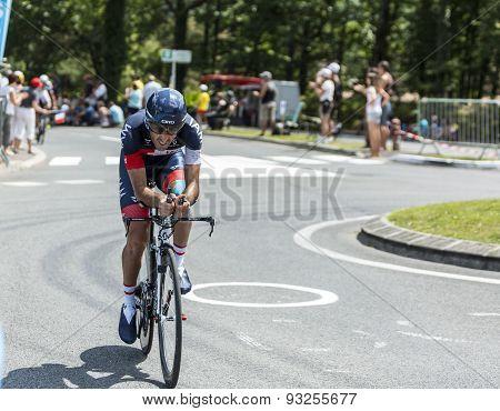 The Cyclist Jerome Pineau - Tour De France 2014