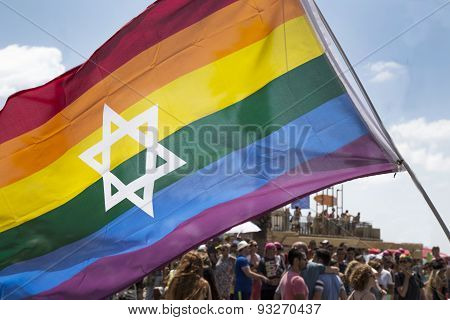 TEL-AVIV - ISRAEL, 12 JUNE 2015: Tel Aviv Gay Pride parade