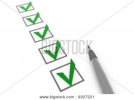 3d check green pen