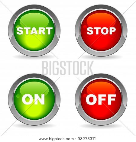 Isolated Start And Stop, On, Off Buttons