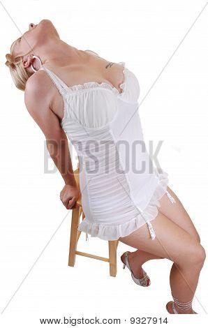 Blond Girl In Lingerie.