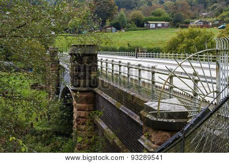 Elan Aqueduct As It Crosses The River Severn.