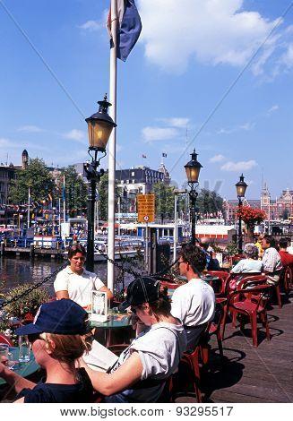 Pavement cafe, Amsterdam.