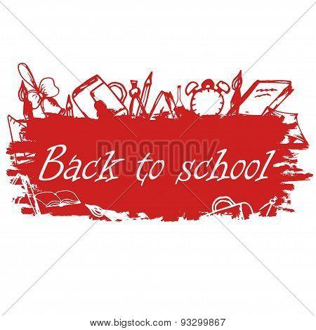 School Background Of School Supplies. Back To School Design Template