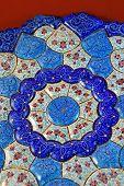 Mina Minakari Handicraft made in Esfahan Naqshe Jahan Square, Iran poster