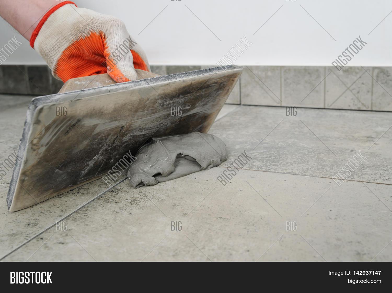 Grouting Ceramic Tiles Image Photo Free Trial Bigstock