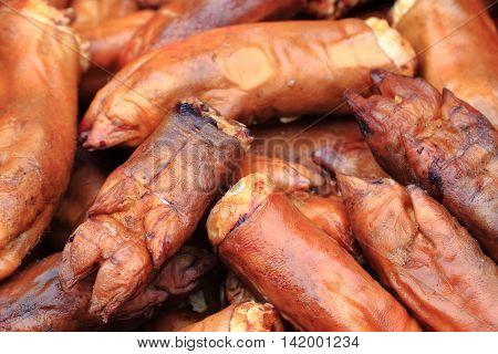 Smoked Pig Legs Texture