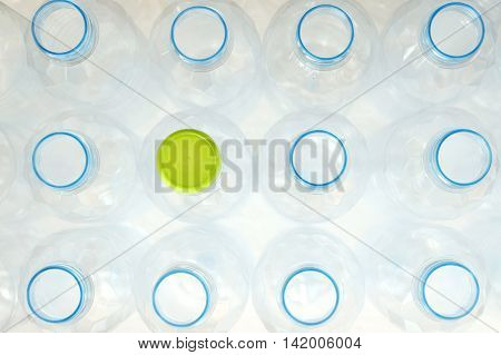 top view of white plastic bottle - minimal picture