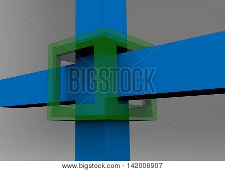3D Render Of Architecture Background