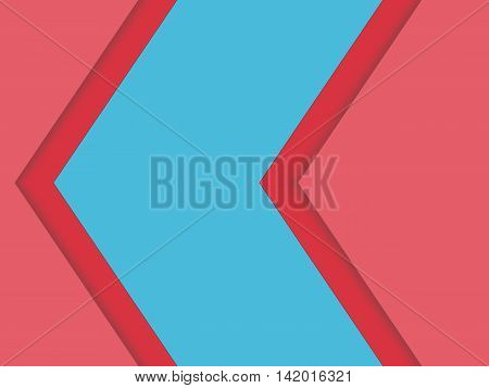 Abstract background. Red triangle superimposed layer on the blue box for text. Vector illustration.