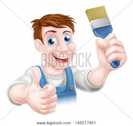 Decorator Holding Paintbrush