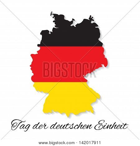 3 October Germany Independence Day. German map vector illustration with text German Unity Day