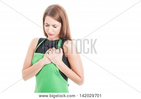 Young Employee Suffering From Palpitation