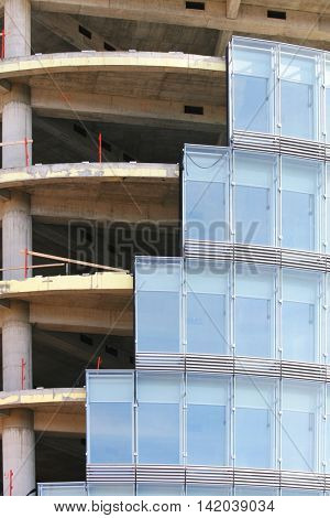 Detail of building under construction