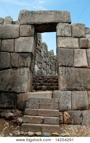 Ancient stone sun gates in Sacsayhuaman