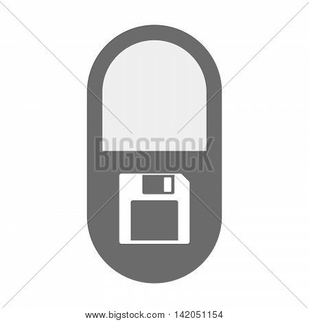 Isolated Pill Icon With A Floppy Disk