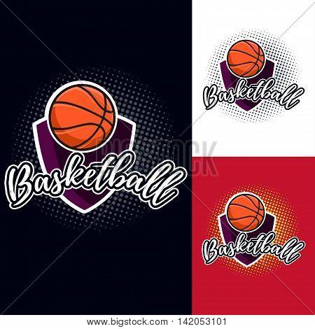 Basketball Colour Tournament Logo