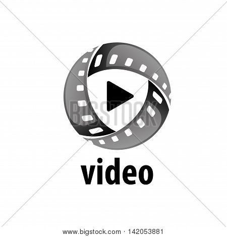 logo design template films. Vector illustration of icon