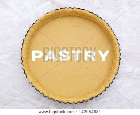 Flan Tin Lined With Shortcrust Pastry - Pastry Text