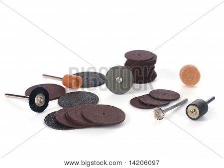 Closeup Of Mini Rotary Tool Bits