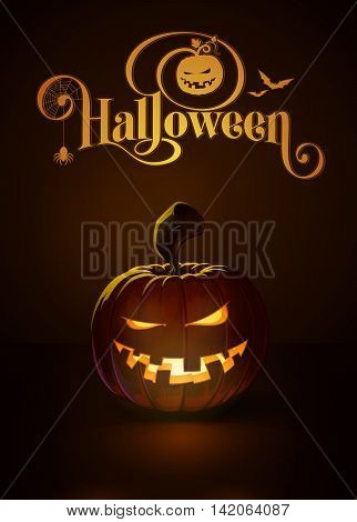 Jack-o-lantern Dark Mean N Toothy