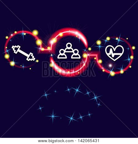 Background fitness. Concept of healthy lifestyle. Sport strengthens health. Vector illustration.
