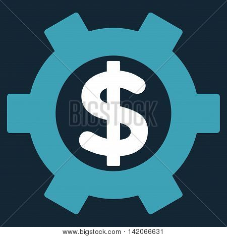 Financial Settings vector icon. Financial Settings icon symbol. Financial Settings icon image. Financial Settings icon picture. Financial Settings pictogram.