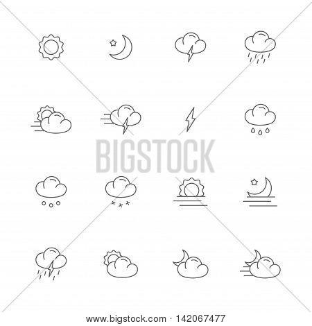 meteo gray line icons weather gray line icons