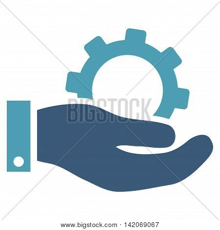 Service vector icon. Service icon symbol. Service icon image. Service icon picture. Service pictogram. Flat cyan and blue service icon. Isolated service icon graphic. Service icon illustration.