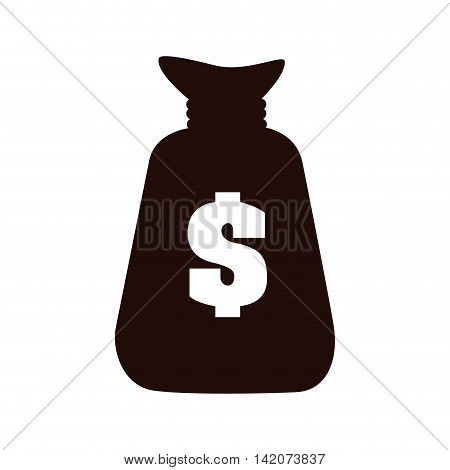bag money rich economy  sign financial bank dollar vector graphic isolated and flat illustration