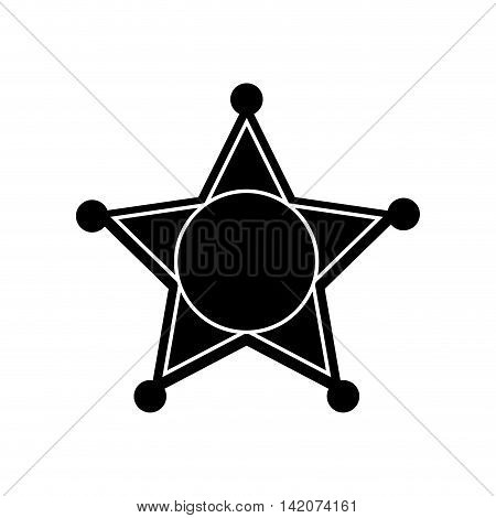 star sheriff law police officer american west vector graphic isolated and flat illustration