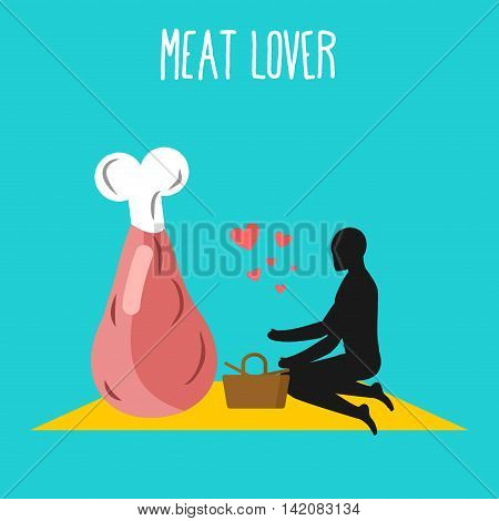 Meat Lovers. Ham Pork On Picnic. Rendezvous In Park. Beef And People. Rural Jaunt In Love Wit Food.