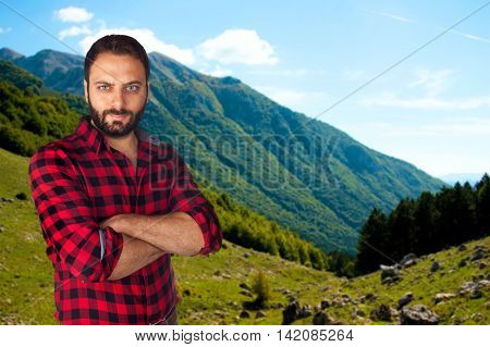Mountain Man With Plaid Shirt