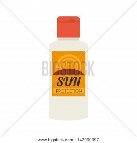 sun block lotion bottle tube protection uva cream vector graphic isolated and flat illustration